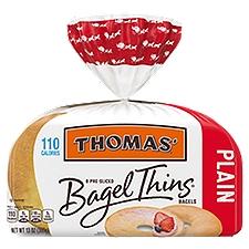 Thomas' Plain Bagel Thins, 110 Calories, 8 count,, 13 Ounce