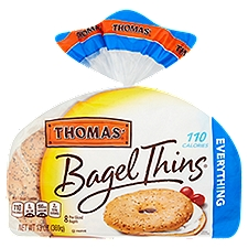 Thomas' Everything Bagel Thins, 110 Calories, 8 count, 13 Ounce