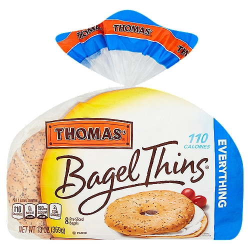 Fans of the everything bagel will love this light-textured, delicious twist with 110 calories.