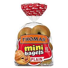 Thomas' Plain Mini Bagels, 10 count, 15 oz, 15 Ounce