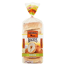 Thomas' Onion Soft & Chewy Bagels, 6 count, 20 Ounce