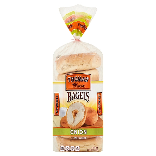 Toasted with cream cheese, or paired with deli meats, Thomas' savory Onion Bagel always hits the spot.