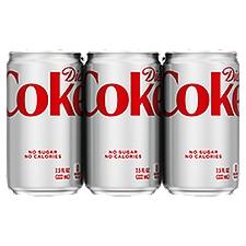 Coca-Cola light/diet Coke Cans, 7.5 fl oz, 6 Pack, 45 Fluid ounce