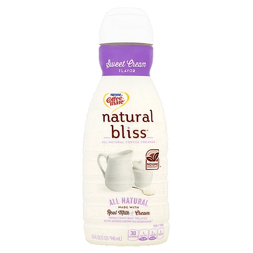 All-natural coffee creamer