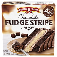 Pepperidge Farm® Chocolate Fudge Stripe Layer Cake, 19.6 Ounce