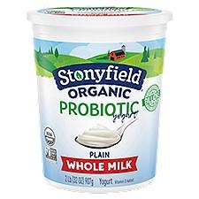 Stonyfield Smooth & Creamy Whole Milk Plain Yogurt, 32 Ounce
