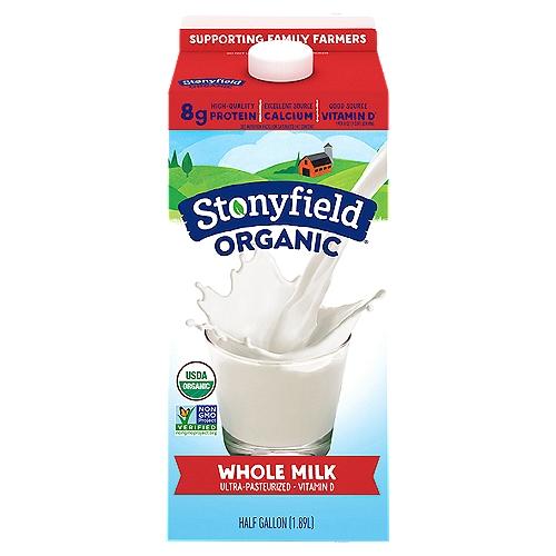1/2 Gallon - USDA organic.