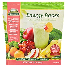 Campoverde Fruit & Veggie Blenders Pre-Cut Fruits and Vegetables, Energy Boost, 2 Pound