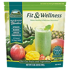 Campoverde Fruit & Veggie Blenders Pre-Cut Fruits and Vegetables, Fit & Wellness, 2 Pound