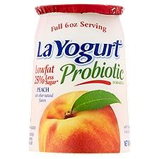 La Yogurt Low Fat Yogurt - Peach, 6 Ounce