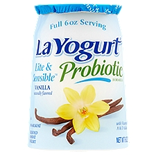La Yogurt Yogurt - Blended Nonfat Vanilla, 6 Ounce