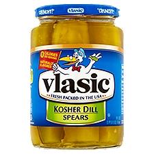 Vlasic Kosher Dill Spears, 24 Fluid ounce