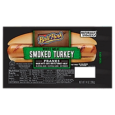 Ball Park Smoked White Meat Turkey Hot Dogs, Bunsize Length, 14 Ounce