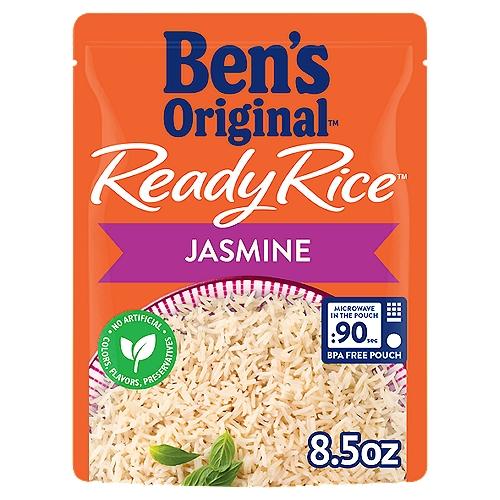 BEN'S ORIGINAL READY RICE, Jasmine, 8.5 oz. pouch