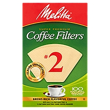 Melitta Coffee Filters - Cone - No. 2 - Natural Brown, 100 Each