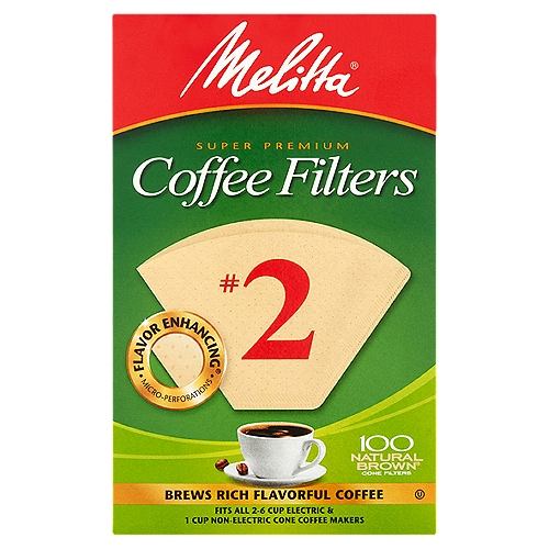 World's No. 1 selling. Double crimp for extra strength. Guaranteed not to burst. Fits all coffeemakers that use a No. 2 size filter cone. Made in USA.2-6 cups