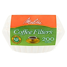Melitta Basket Coffee Filters, 200 Each