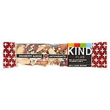 Kind Plus Fruit & Nut Bars - Cranberry Almond, 1 Ounce