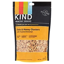 Kind Healthy Grains Oats & Honey Clusters with Toasted Coconut, 11 Ounce