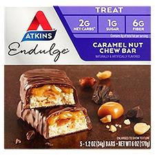Atkins Caramel Nut Chew Bar - Endulge, 5 Each