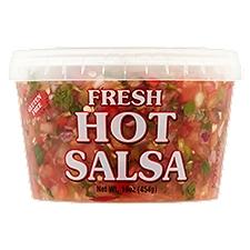 Top Crop Fresh Salsa - Hot, 16 Ounce