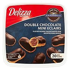 Delizza Eclairs, Double Chocolate Mini, 9.88 Ounce