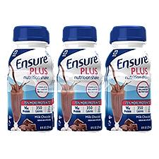 Ensure Plus Nutrition Shake Milk Chocolate - 6 pk, 48 Fluid ounce