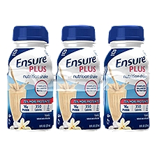 Ensure Plus Nutrition Shake Vanilla - 6 pk, 48 Fluid ounce