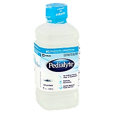 Pedialyte Electrolyte Solution Unflavored Ready-to-Drink, 1.1 Each