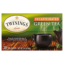 Twinings of London Decaffeinated Green Tea, 1.41 Ounce