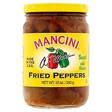 Mancini Fried Peppers - Sweet with Onions, 12 Ounce