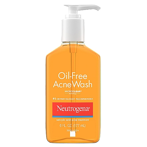 Oil-free cleanser helps to eliminate oil and clear up acne and blackheads and helps prevent future breakouts.