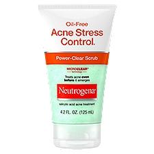 NEUTROGENA Oil-Free Acne Stress Control Power-Clear Scrub, 4.2 Fluid ounce