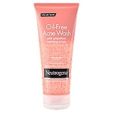 NEUTROGENA Oil-Free Acne Wash Pink Grapefruit Foaming Scrub, 6.7 Fluid ounce