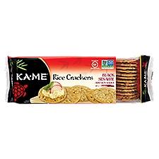 Ka-Me Rice Crunch Crackers - Black Sesame & Soy Sauce, 3.5 Ounce