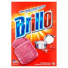 Brillo Steel Wool Pads, 10 Each