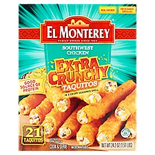 El Monterey Extra Crunchy Taquitos -  Southwest Chicken, 24.2 Ounce