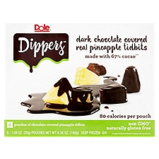 Dole Frozen Pineapple Dippers, 6.36 Ounce