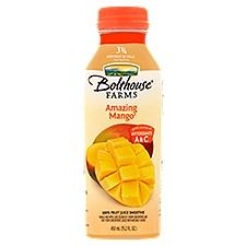 Bolthouse Farms 100% Fruit Smoothie + Boosts Amazing Mango, 15.2 Fluid ounce
