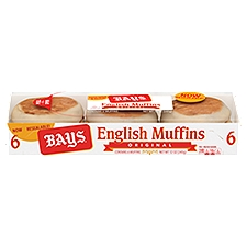 Bays Original English Muffins, 6 count, 12 Ounce