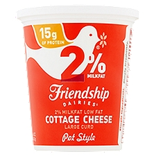 Friendship Dairies 2% Pot Style Cottage Cheese, 16 Ounce