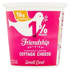 Friendship Dairies 1% Lowfat Cottage Cheese, 24 Ounce