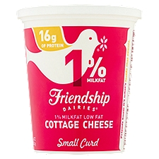Friendship Dairies 1% Lowfat Cottage Cheese, 16 Ounce