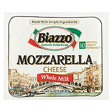 Biazzo Mozzarella Cheese with Whole Milk, 16 Ounce
