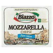 Biazzo Part Skim Mozzarella Cheese, 16 Ounce