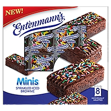 Entenmann's Brownie Minis Sprinkled Iced, 8 Each