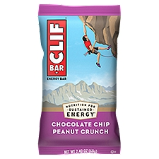 Clif Bar Chocolate Chip Peanut Crunch, 2.4 Ounce