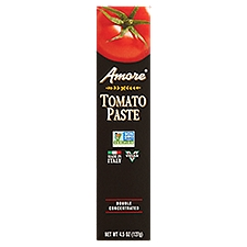 Amore Italian Tomato Paste - Double Concentrated, 4.5 Ounce
