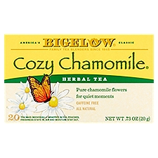 Bigelow Herbal Tea Bags- Cozy Chamomile, 0.73 Ounce