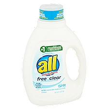 all Detergent Free Clear with Stainlifters, 36 Fluid ounce
